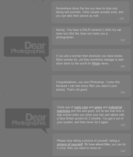 dear photographer