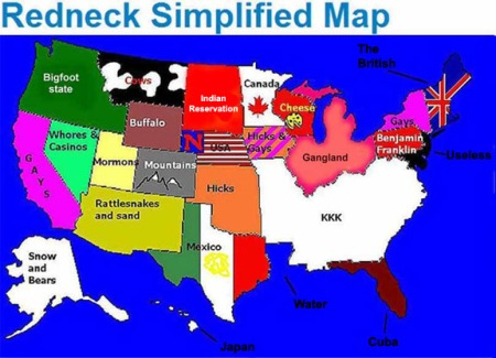 Simplified Redneck Map
